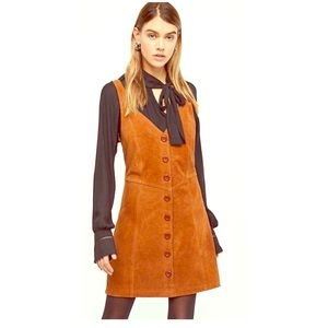 Free People suede mini jumper dress